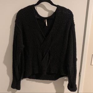 Black free people sweater